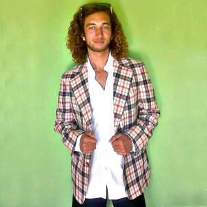 70s mens plaid jacket disco sport coat blazer-the remix vintage fashion