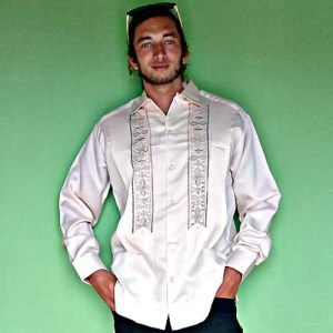 mexican vintage guayabera campos copacabana mexican shirt formal wedding long sleeve 40-the remix vintage fashion
