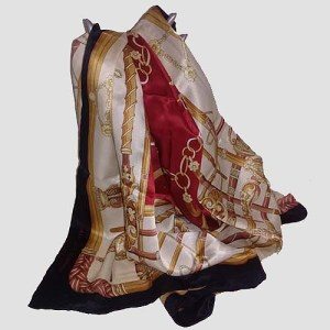 jean louis scherrer scarf silk-the remix vintage fashion