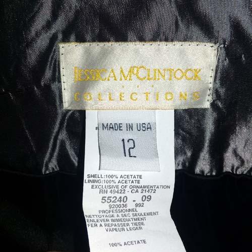jessica mcclintock full satin skirt-the remix vintage fashion