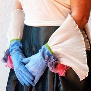 sliptique transformed vintage lingerie accessories gloves-the remix vintage fashion