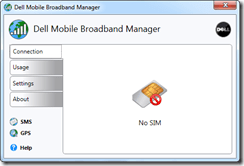 Dell Mobile Broadband Manager
