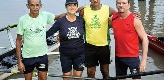 Equipe master azulina de regata