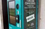 Máquina de troca de ingressos por garrafa pet