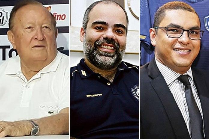 Manoel Ribeiro, Fábio Bentes e Marco Antônio Pina