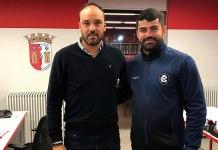 Ari Barros visitou o Sporting Clube de Braga (Portugal)