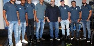 Fredson, Mário Sérgio, Vinícius, João Nasser Neto (Netão), Fábio Bentes, Vacaria, Echeverría e Thiago