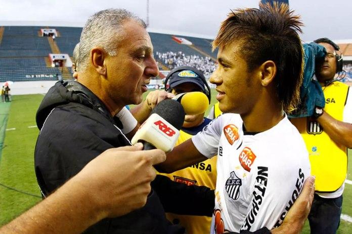 Márcio Fernandes e Neymar