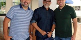 Rodrigo Salim (diretor do Nação Azul), Ricardo Rocha e Renan Bezerra (diretor de Marketing)