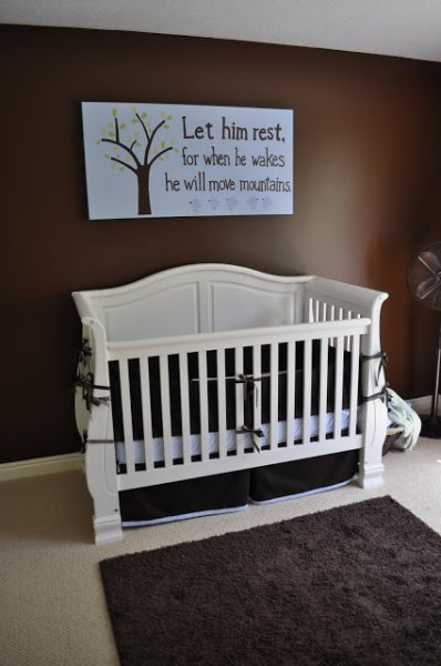 Boy's Nursery with Hand-Painted Art