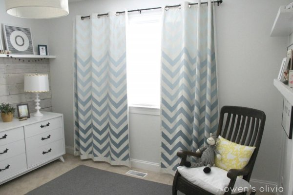 Gender Neutral Gray Nursery with Plank Accent Wall