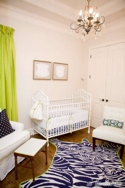 Green and Navy Nursery