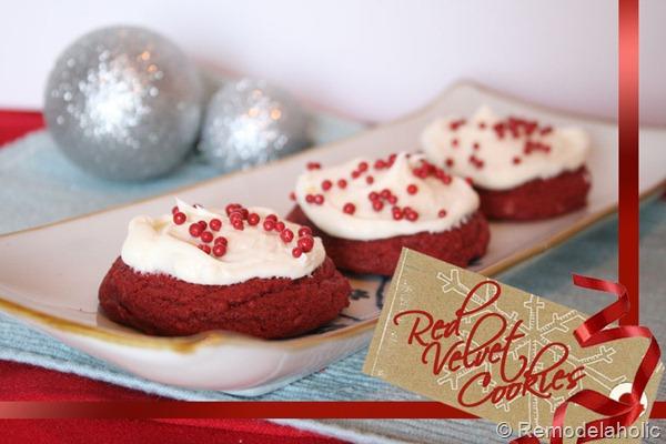 Semi-Homemade Red Velvet Cookies