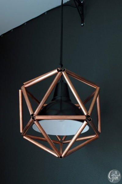 Geometric Copper Pendant Light