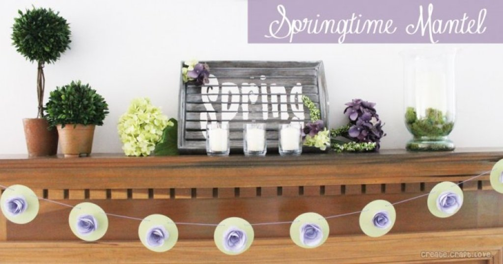 Pops of Purple Mantel