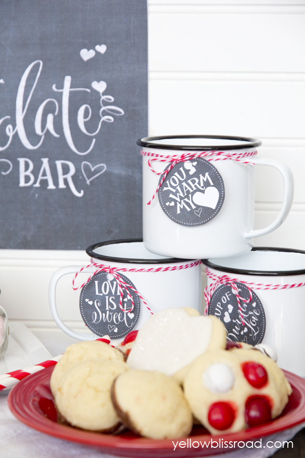 Valentine's Hot Chocolate Bar and Printables