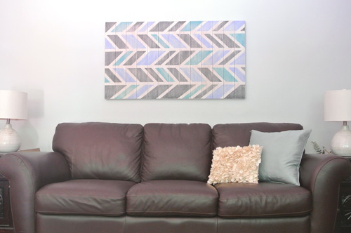 Herringbone Scrap Wood Wall Art