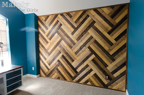 Using Vinyl Wood Tile As A Wall Accent