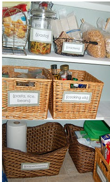 Organizing the Pantry Using Baskets