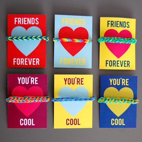 Printable Valentines Cards for Loom Bracelets