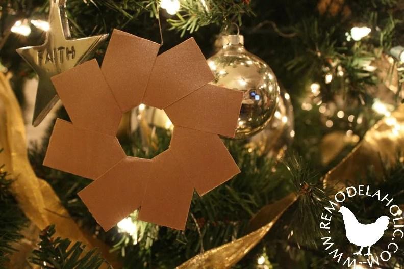 Five Golden Ring Star Ornaments