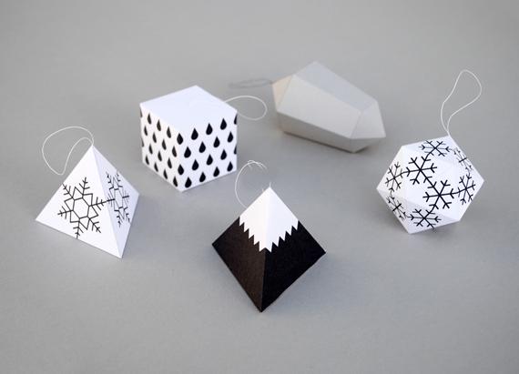 3D Geometric Printable Ornament Templates