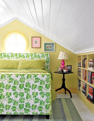 Yellow and Green Bedroom