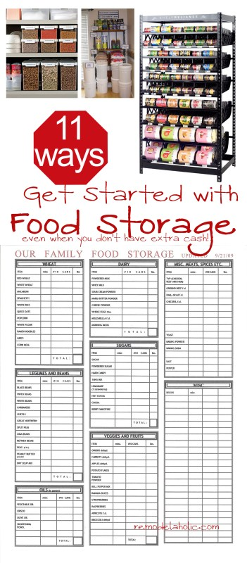 Food storage ideas when short on cash remodelaholic