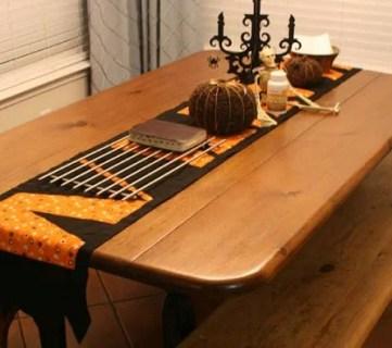 halloween table runner instructions