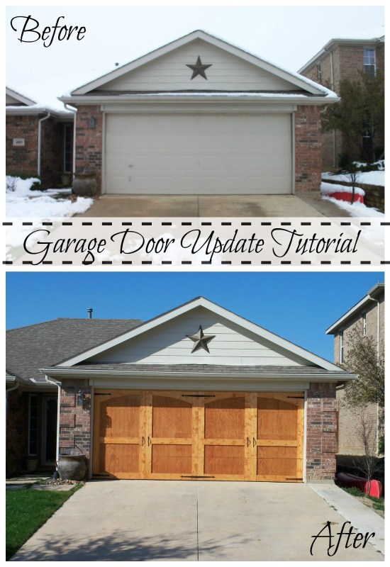 Remodelaholic ugly garage door be gone carriage door tutorial garage door update tutorial 1 solutioingenieria