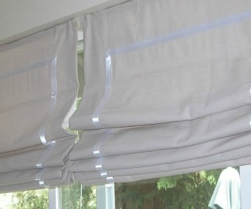 kitchen diy roman shades