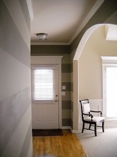 Striped  entry wall horizontal wall stripes  (7)