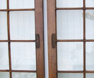 glass windows and cabinet doors recycle project