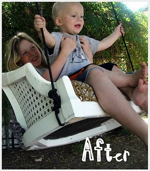 swing from old chair upcycle 3