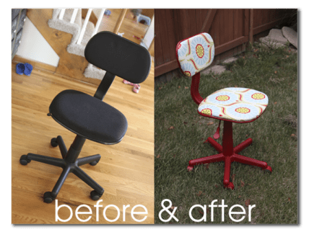 HOw to reuphoster and office chair before and after (1)