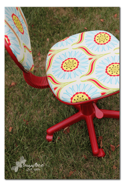 HOw to reuphoster and office chair before and after (6)