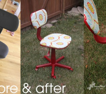 Basic Office Chair Reupholstered For Craft Room