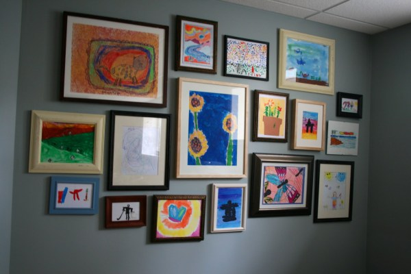 Children's Art Gallery Wall Featured On #remodelaholic
