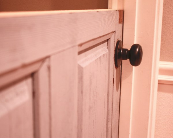 10 DIY dutch door with rustic doorknob by Its the Little Things featured on @Remodelaholic