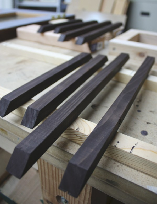 13 Frames used when adding glass panels to a reclaimed door by Its the Little Things featured on @Remodelaholic