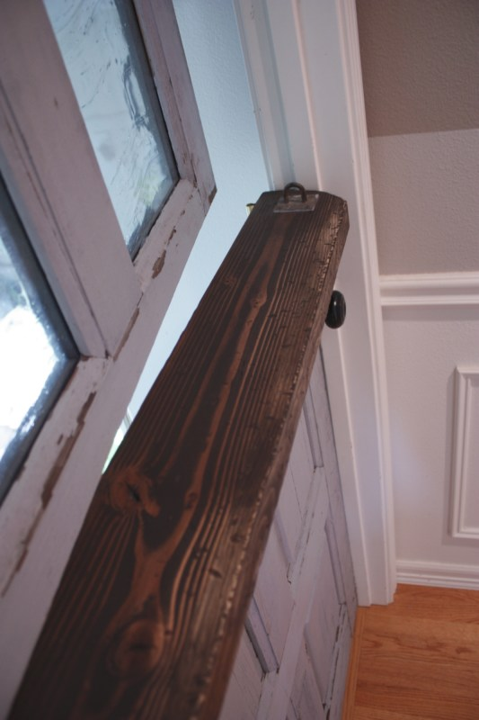 20 Dutch door with artisan glass panels DIY by Its the Little Things featured on @Remodelaholic