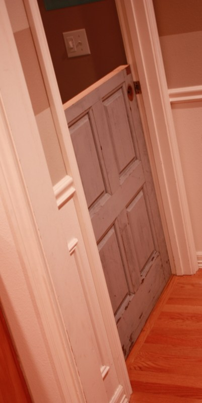 9 DIY reclaimed door into rustic dutch door by Its the Little Things featured on @Remodelaholic