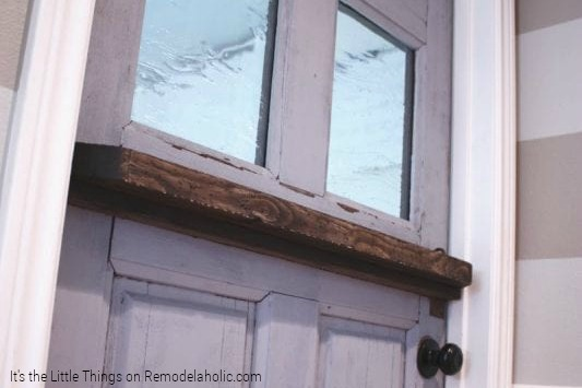 DIY Dutch door from existing door by It's the Little Things on Remodelaholic