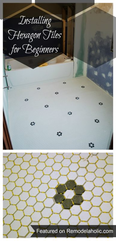 Remodelaholic Installing Hexagon Tile For Beginners