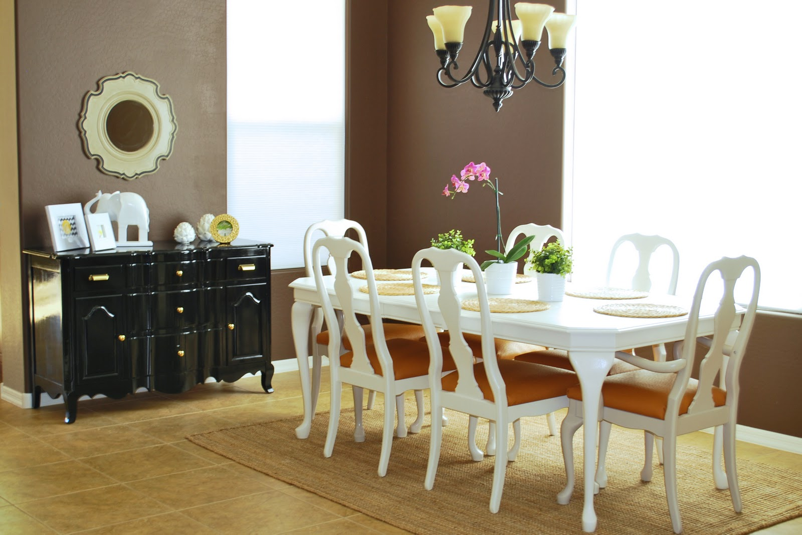 Remodelaholic Refinished Dining Room Table And Chair Re Upholstery Tutorial
