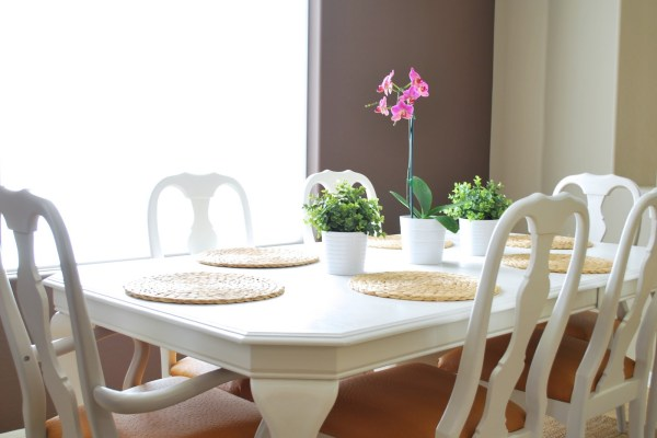 Refinished Dining Room Table and Chair Re-upholstery Tutorial (4)