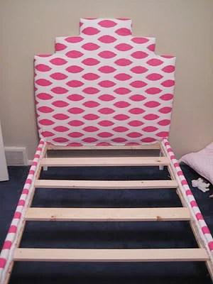 little girls upholstered bed 9
