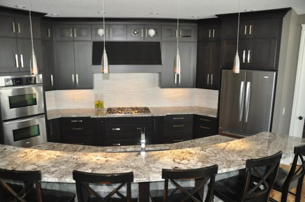 Remodelaholic | Fabulous Kitchen Design; with Black Cabinets