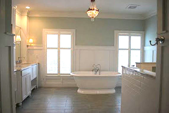 Remodelaholic master bathroom remodel to envy for Youtube bathroom remodel
