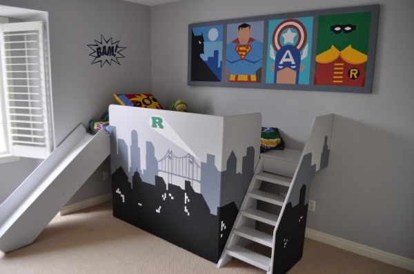 superhero boys bedroom